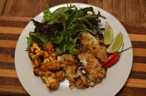 Baked quinoa and chicken with olive gremolata
