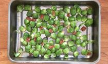 Roasted Brussel sprouts with pecans and quinoa