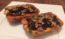 Vegan Wild-Rice-Stuffed Butternut Pumpkin